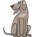 great dane dog cartoon vector image vector image