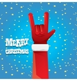 Christmas Rock n roll greeting card vector image