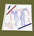 Man and woman flirting vector image
