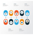 job colorful outline icons set collection of team vector image
