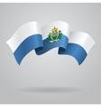 San Marino waving Flag vector image vector image
