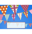 bunting on blue sky and message vector image vector image