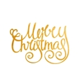 Gold handwritten inscription Merry Christmas vector image