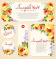 card with yellow roses and chevron vector image