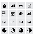 economic icon set vector image