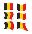 Flag of Belgium Set national flag of Belgian state vector image