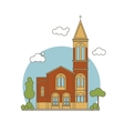 Flat Church vector image