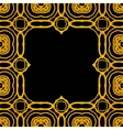 geometric art deco frame with gold shapes vector image
