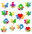 Icons with humans vector image