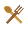 isolated spoon and fork design vector image
