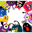 monsters frame card vector image