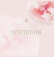 pink pastel wedding invitation vector image