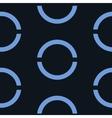 Seamless geometric blue background vector image