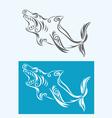 Shark tribal vector image