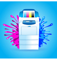 printer cmyk print splash vector image vector image