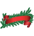 tree brunch with red ribbon vector image vector image