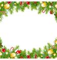 Christmas Vintage Border vector image vector image