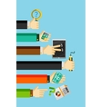 Businessmans hands holding various objects vector image