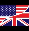 USA British flag vector image vector image