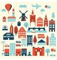 Europe city icon vector image