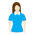 polo shirt template with short sleeves vector image