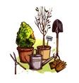 Garden Tools Set vector image vector image