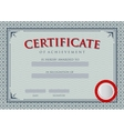 Diploma Certificate of Achievement vector image