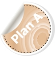 plan a words on business wooden app icon vector image