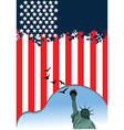 American poster vector image vector image