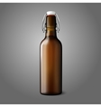 Blank brown realistic retro beer bottle isolated vector image