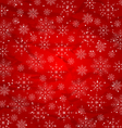 Christmas red wallpaper snowflakes texture vector image