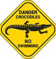 Crocodile sign vector image