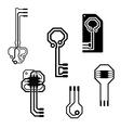 electronic circuit keys vector image
