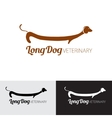for pets shop animal clinic or vector image