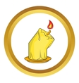 Halloween burning candle icon vector image