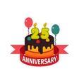 Happy twenty fifth birthday badge icon vector image