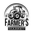 monochrome of a farmer market vector image