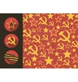 Set of flat style icons of Soviet Union signs vector image
