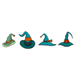 Set of Halloween Hats vector image