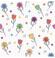 hand drawn seamless pattern with funny colored vector image vector image