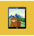 brown bear icon image vector image