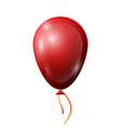 Realistic red balloon with ribbon isolated on vector image