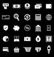 payment icons on black background vector image