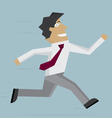 Businessman run forward vector image