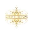 Decorative gold Christmas design element vector image