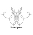 Hipster logo with silhouette of polygonal deer and vector image vector image