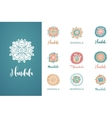 collection of hand drawn mandalas symbols vector image vector image