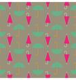 Retro seamless pattern of umbrella vector image