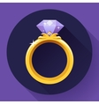 Diamond gold ring icon Flat 20 design vector image