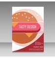 Brochure design for burger menu vector image